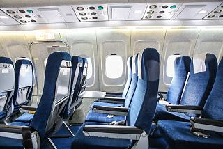 "The passenger cabin of the aircraft Tu-154 of airline ""Belavia"""