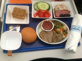Питание в комфорт-классе Аэрофлота на рейсе Хабаровск-Москва