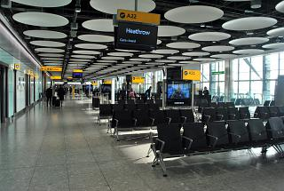The gates in terminal Т5А of London Heathrow airport