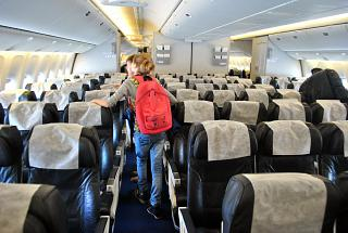 The cabin of the aircraft Boeing-777-200 Orenburg airlines