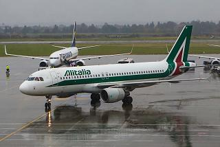 Airbus A320 Alitalia airlines at Bucharest airport