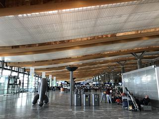 In the passenger terminal at Oslo airport Gardermoen