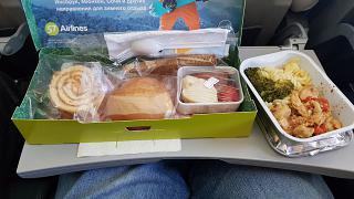 Бортпитание на рейсе S7 Airlines Владивосток-Гонконг