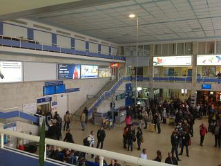 In the terminal building of the airport of Odessa