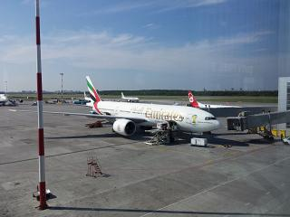Boeing-777-200 of Emirates airlines in Pulkovo airport