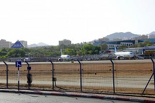 The platform of the airport of Eilat