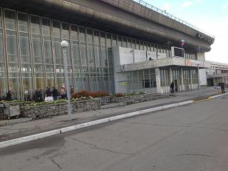 The terminal of the airport Khabarovsk Novy