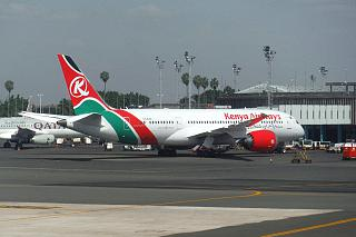 Boeing-787-8 Kenya Airways at Nairobi airport