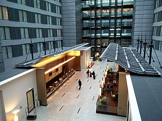 The Hilton in the passenger terminal of Frankfurt airport
