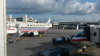 At Miami international airport