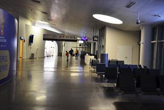 В чистой зоне международных вылетов аэропорта Самара Курумоч