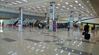 The area of registration of passengers at the airport Clark