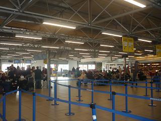 В зоне решистрации на рейсы аэропорта Рим Чампино