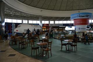"In the ""clean"" area of international departures in Terminal 1 of Antalya airport"