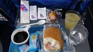 Flight meals on the flight Havana Bogota with Cubana airlines