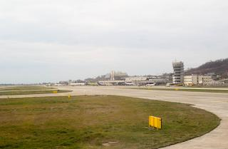 The tarmac of the airport of Sochi
