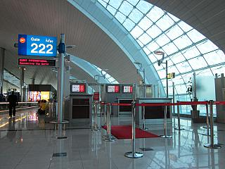 The gate at the Dubai airport