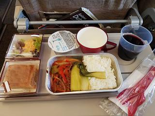 Flight meals on the flight Yuzhno-Sakhalinsk-Seoul Asiana Airlines