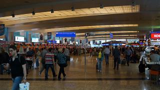 In terminal D of Sheremetyevo airport