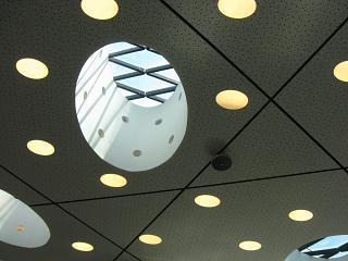 The ceiling in the Central part of terminal 1, Lisbon Portela airport