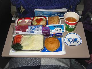 Питание на рейсе Трансаэро Пхукет-Москва