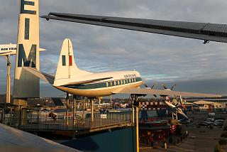 Aircraft Vickers Viscount in the Museum of technology in Sinsheim
