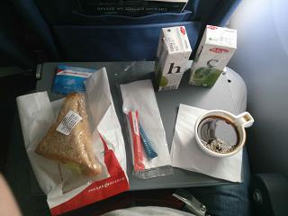 Питание на рейсе Минск-Санкт-Петербург авиакомпании
