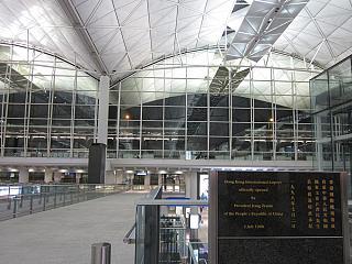At the airport in Hong Kong
