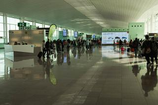 In sector B of the terminal T1 Barcelona airport El Prat