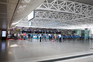 The check-in area C in the domestic terminal of Sanya Phoenix international airport