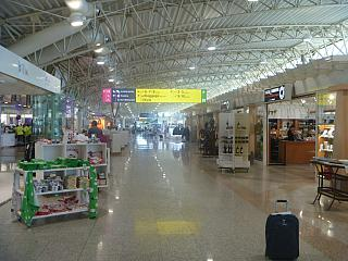 In a clean area of the airport Olbia Costa Smeralda