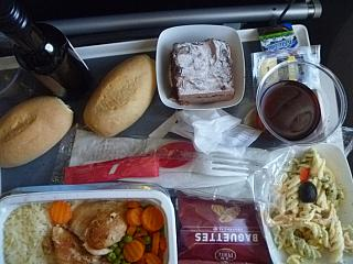 Food on the flight Havana-Paris Air France