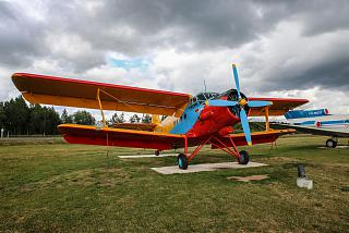 The an-2 aircraft on station square in Minsk airport