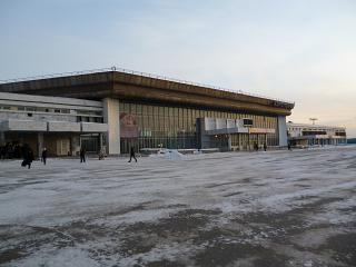 The domestic terminal of the airport Khabarovsk Novy