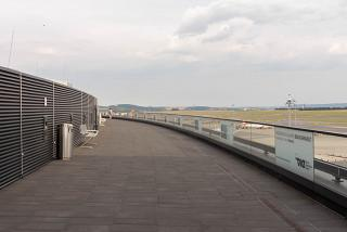 The observation deck at the airport Vienna Schwechat