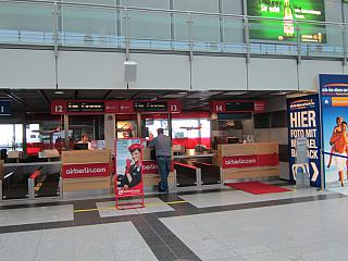 Airberlin check-in Desk at the airport Dortmund
