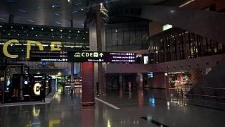 В пассажирском терминале аэропорта Хамад