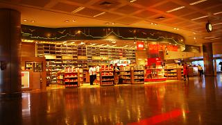 The Duty Free stores in the arrivals area of Istanbul Ataturk airport