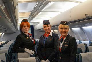 "Flight attendants of airline ""Belavia"""