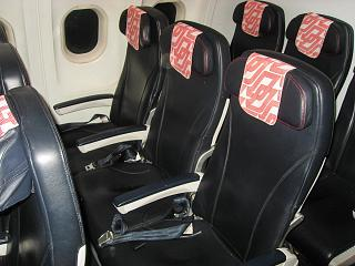 The passenger seats in the Airbus A319 of Air France