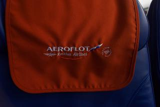 "Headrest with logo of ""Aeroflot"""