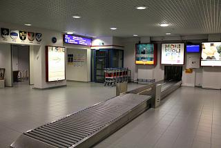 Baggage claim at the airport in Kajaani