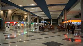 The arrival hall at the airport Porto Francisco s