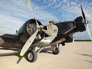 Plane Junkers Ju 52 of Deutsche Lufthansa