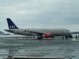 Airbus A320 авиакомпании SAS в аэропорту Пулково