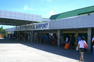 The entrance to the terminal building of Kalibo airport