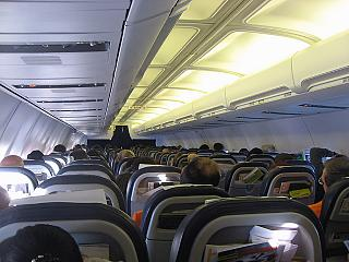 The cabin of the aircraft Boeing-737-300 airline, airBaltic