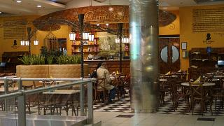 Cafe Vienna in clean international departures area of Domodedovo airport