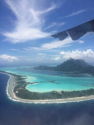 The island of Bora Bora in French Polynesia