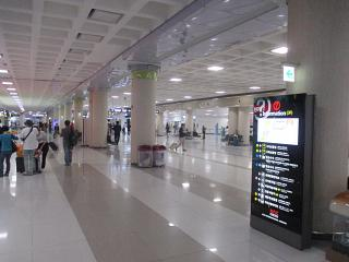 In the terminal building of the airport of Jeju
